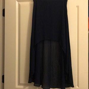 Forever 21 Hi Low Skirt Navy Blue